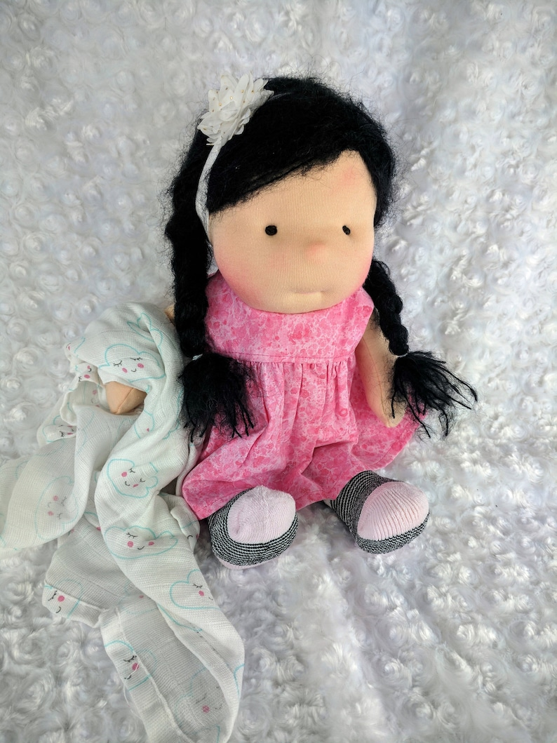 Luna: A Waldorf Inspired 14 inch Cloth Doll with Dress image 0