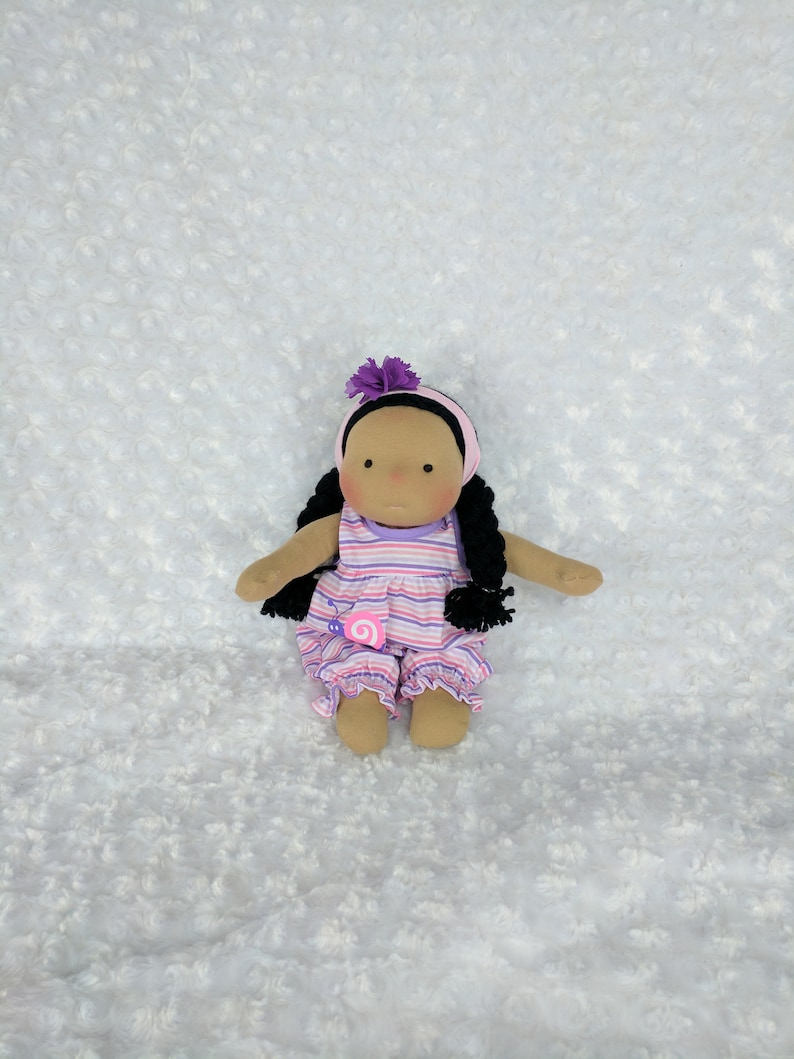 Tiny Netchie: 11 inch Waldorf Inspired Cloth Doll Steiner image 0