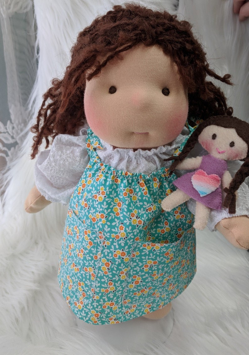 11 inch Waldorf Cloth DollHandmade by Netchie Dolls. Lets image 0