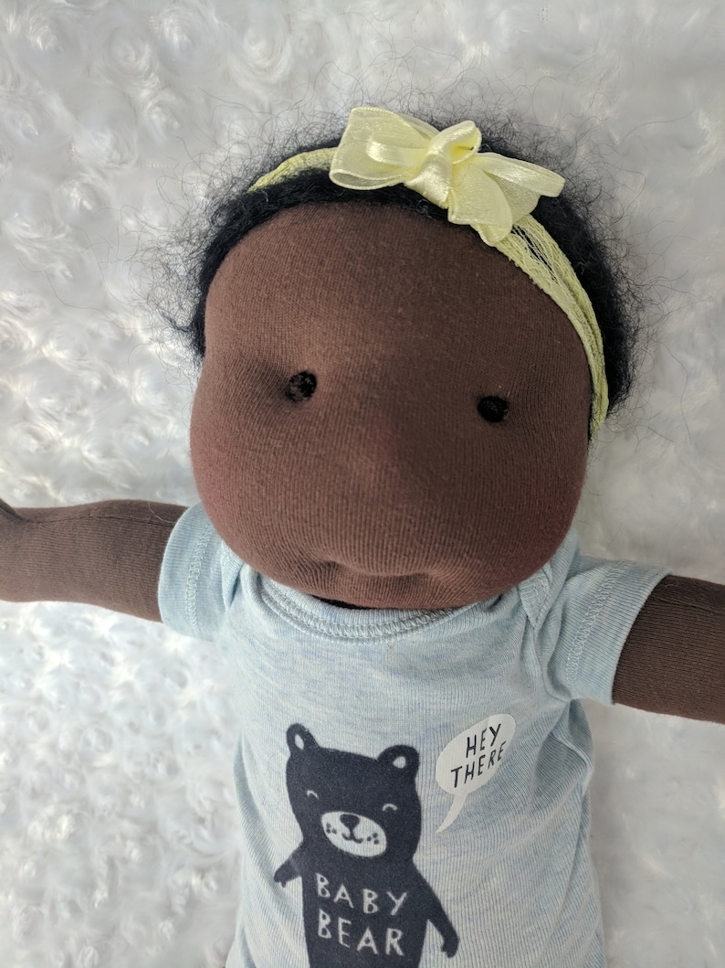 19 Inch Preemie Waldorf Inspired Doll by Netchie Dolls. Lets image 0