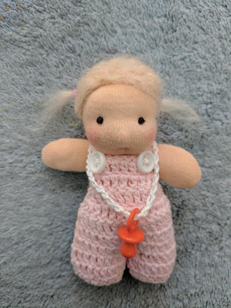 Itty Bitty Netchie: 3 inch Miniature Waldorf Inspired Cloth image 0