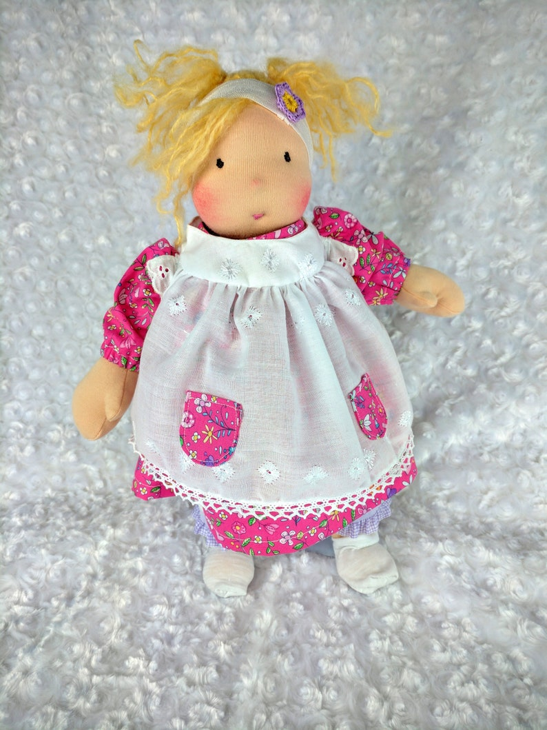 Poppy: A 14 inch Waldorf Doll Handmade by Netchie Dolls image 0