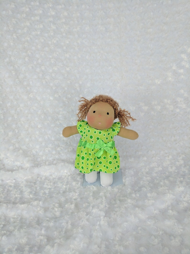 Pocket Netchie: 8 inch Waldorf Inspired Cloth Doll Handmade image 0