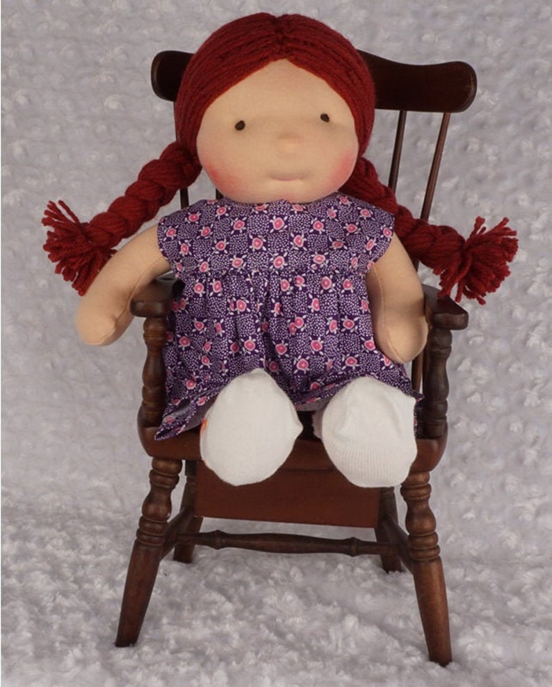 Piper: 14 inch Waldorf Inspired Cloth Baby Doll Handmade by image 0
