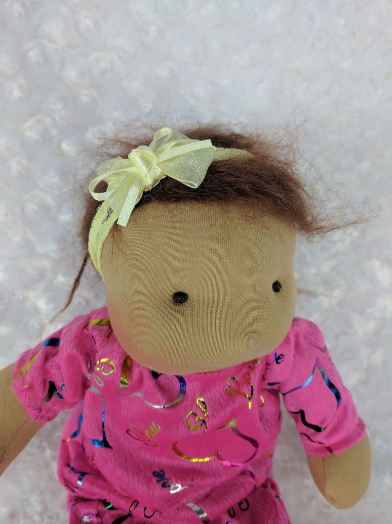 Mango: A 14 inch Waldorf Inspired Cloth Baby Doll Handmade by image 0