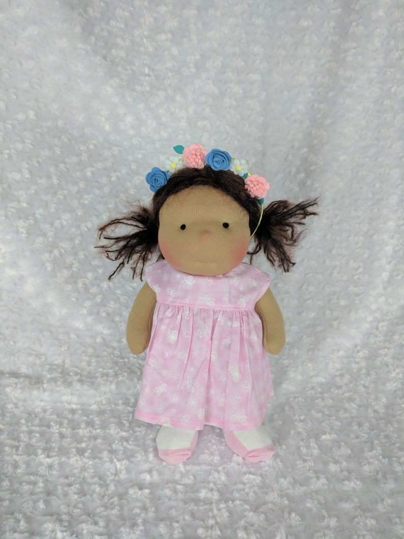 Mango: A 14 inch Waldorf Inspired Cloth Doll Handmade by image 0