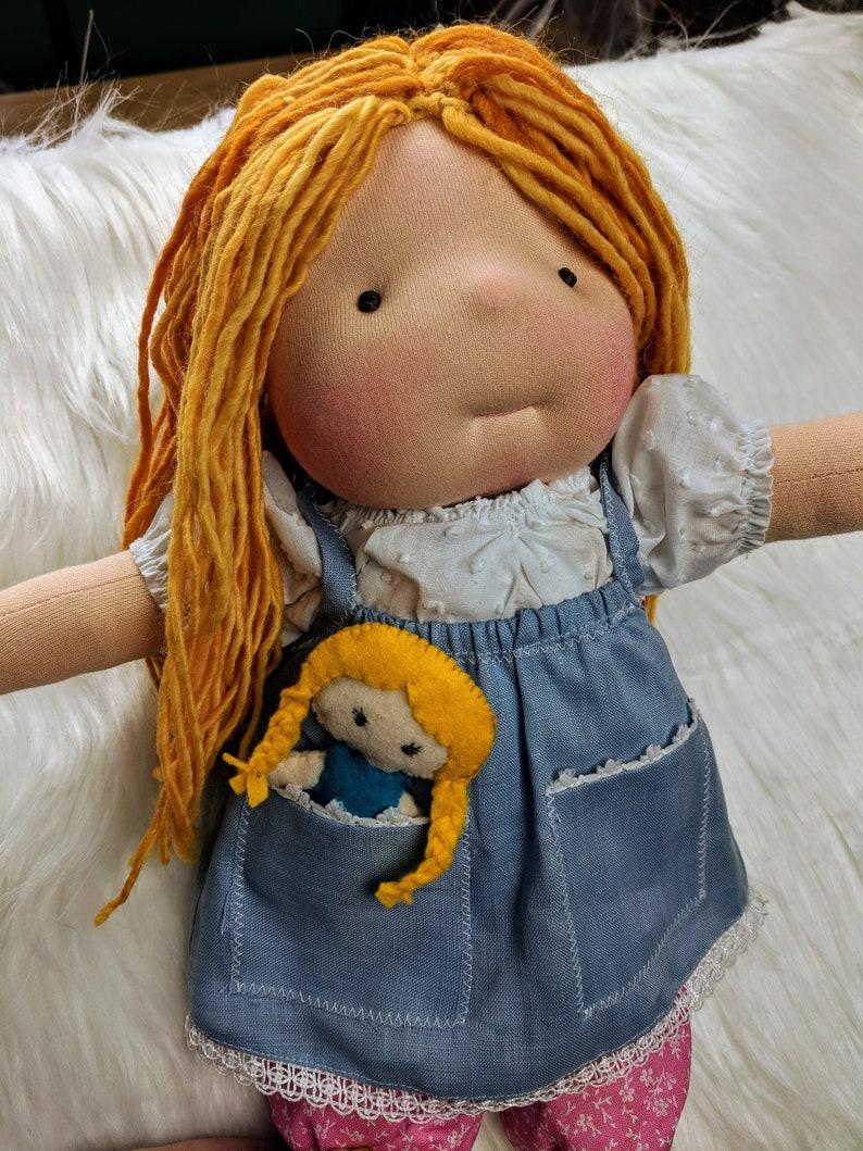 Junior Netchie: 14 Waldorf Inspired Doll Handmade By image 0