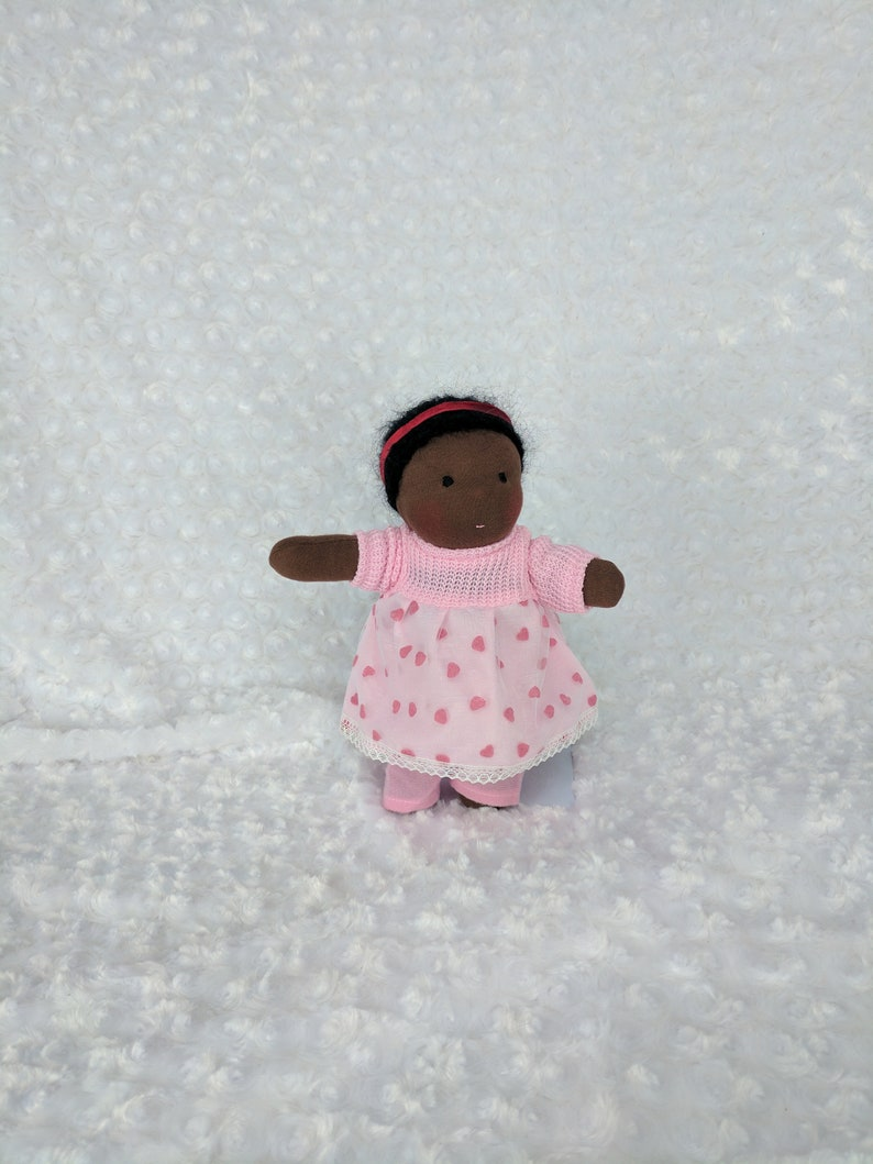 Pocket Netchie: 8 inch Waldorf Inspired Cloth Doll Handmade image 0