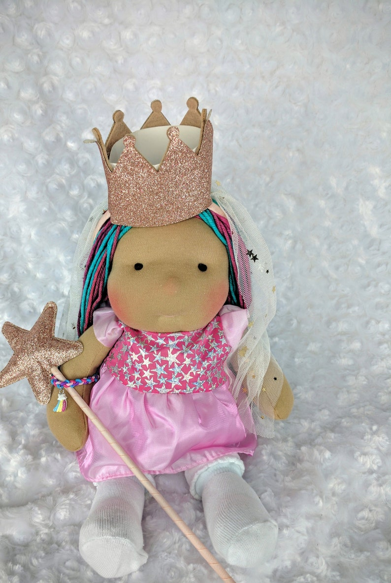 Juice: A 14 inch Waldorf Inspired Cloth Doll Handmade by image 0
