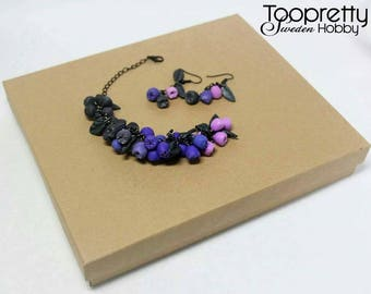 "Jewellery set ""Blueberry"""