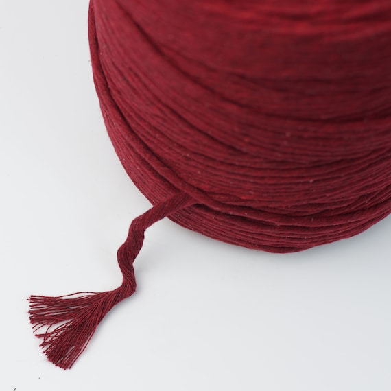 Macrame Cord String Rope /'/'WINE/' Single Strand String Super Soft 5MM Luxe Cotton Cord