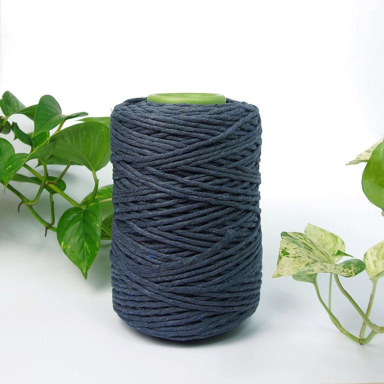 Quelle Ficelle Pour Macramé string en coton batik indigo 5mm en macramé ficelle, en macramé cordon,  cordon de coton, macramé en corde, corde de coton,