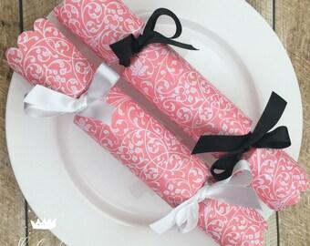 Diy cracker kit etsy pink swirl design wedding personalised do it yourself 8 cracker kit diy solutioingenieria Gallery