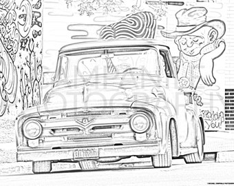 Classic Car Modication Lowrider Cars Coloring Pages - Download ... | 270x340