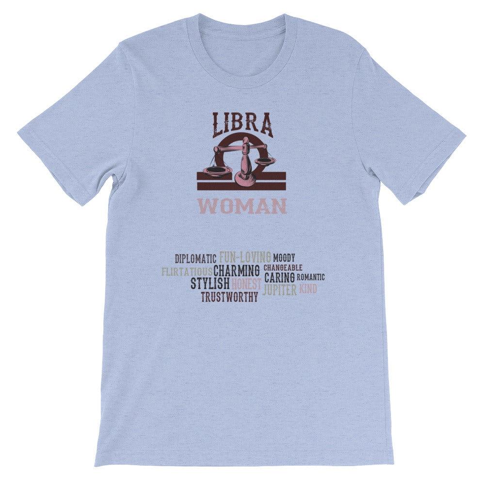 Libra Women Shirt T Gifts Zodiac September Birthday October Gift