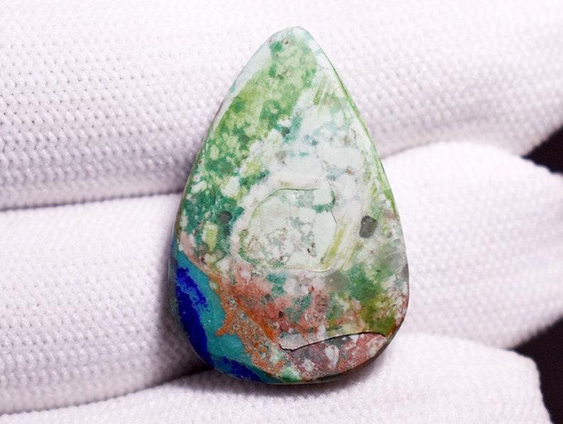 25 Cts Top Quality Azurite Malachite Gemstone Blue Azurite Gemstone Malachite  Azurite Cabochon Azurite Malachite wholesale Lot TP0857