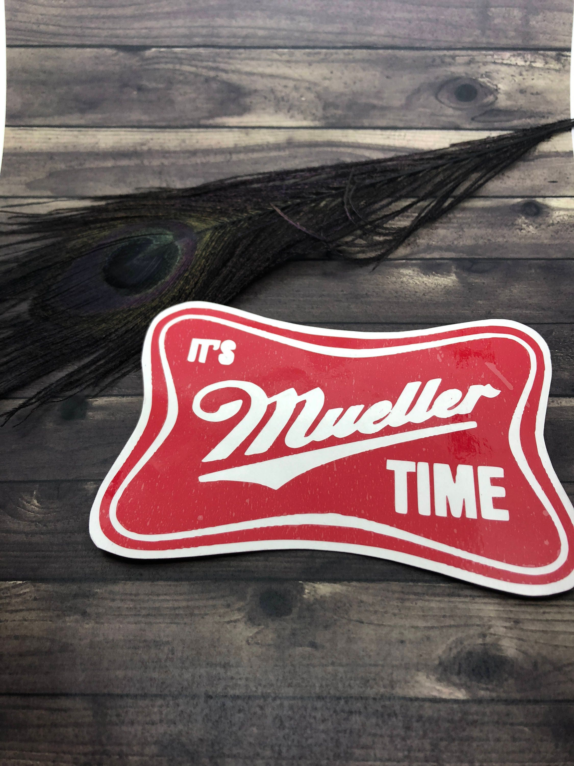 Custom Vinyl Decal Anti Trump Sticker Mueller Time Pattern Etsy