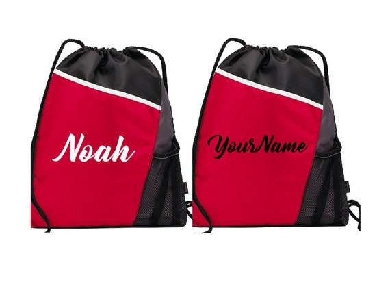 Personalized Drawstring Bag Backpack Cinch Sack Tote Pack Gym  d2ffe00d394c6