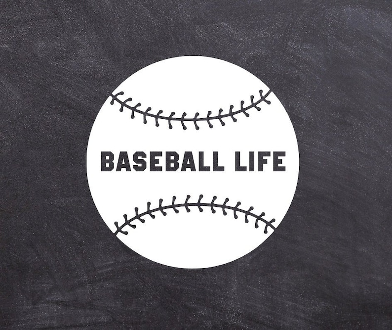 21826d51763 Baseball Life Decal Baseball Mom Life Sticker Dad Ball Life | Etsy