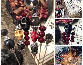 CUSTOM Witch ritual/Voodoo Pins