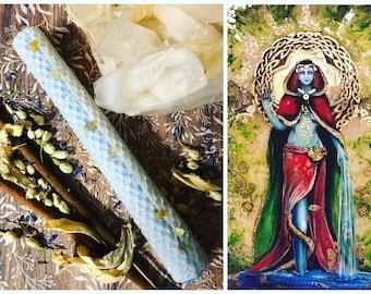 DANU Goddess Honoring Candle