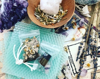 THE HERMIT***Aura rejuvenation/Mental Clarity*** Spell/Ritual/Intention Candle Making Kit