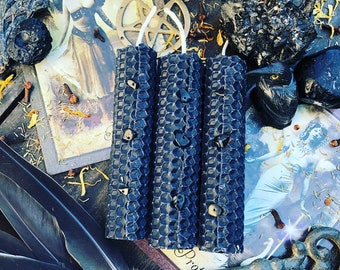 HIGH POTENCY Queen of Swords- Banishment & Protection hand-rolled Ritual Candles