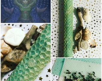 YEMAYA \ ATARGATIS \ AINE Sea Witch Mermaid Goddess honoring candle