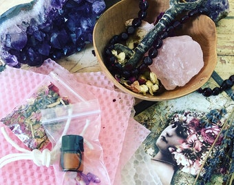 THE STAR ***self love and acceptance*** spell/ritual/intention candle kit