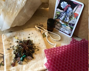 DEATH ***Quick change and smooth transitions*** Ritual/Spell/Intention Candle making Kit