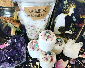 The Hermit- Relax & Release Ritual Bath Set (stress/anxiety relief)