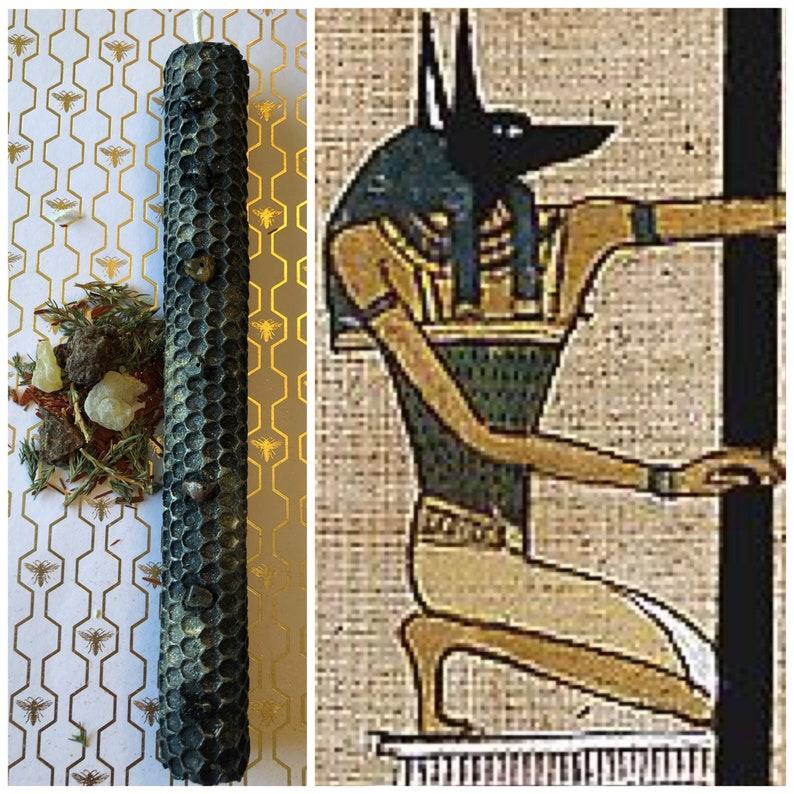 Anubis God Worship Candle
