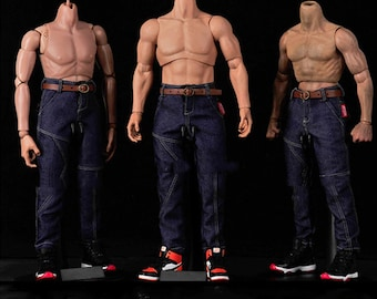 Small 1//6 Scale Toy The Last Girl Female Denim Like Blue Jeans