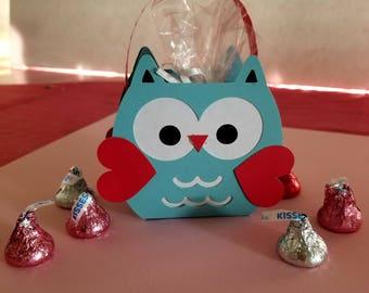 Handmade Owl Valentine Basket