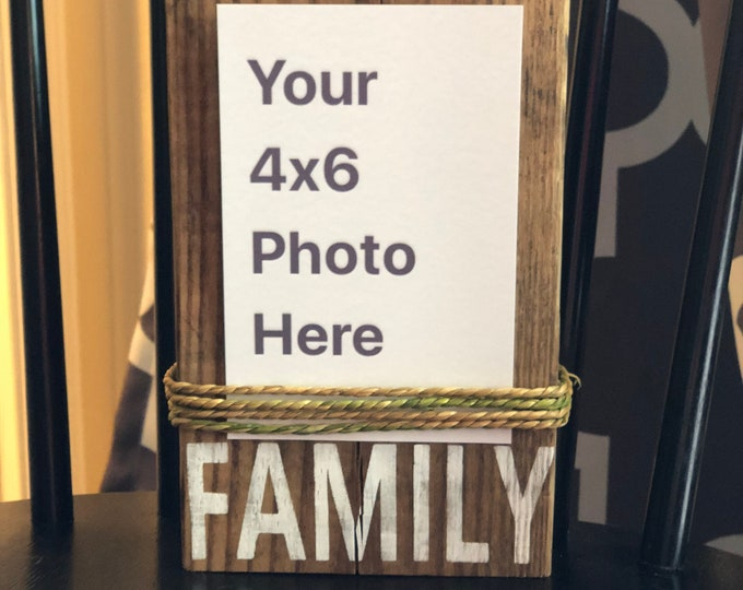 Custom 4x6 photo frame | Wood Photo Block | Wood Photo Sign | Custom Picture Frame