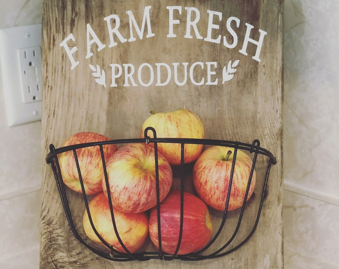 Featured listing image: Farm Fresh Produce Bowl | Rustic Product Holder | Produce Holder | Fruit Bowl | Produce Basket