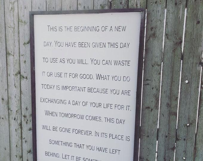 Custom Framed Sign | Let it be something good lyrics | Big farmhouse sign |large custom sign | Big lyric sign | Big quote sign
