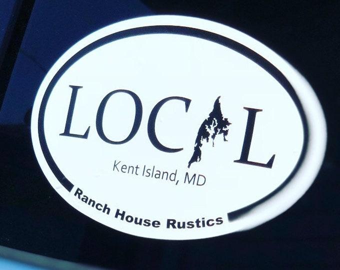 LOCAL STICKER [Kent Island, Maryland] Oval Car Sticker