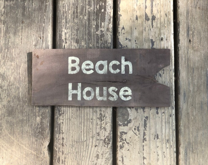 Beach House Sign - Beach Plaque - Vacation House Decor - Cottage Sign - Custom Signs - Beach Decor - Driftwood Sign - Mother's Day Gift -