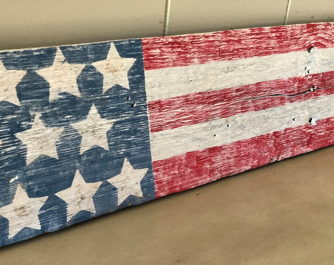 American Flag Reclaimed Wood Sign | Wooden Sign | Rustic Home Decor Sign | Farmhouse Sign | Americana Decor