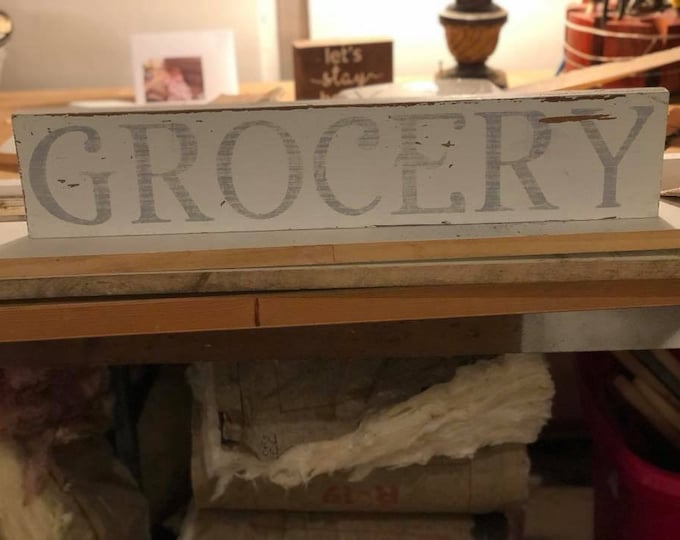 Rustic Farmhouse Grocery Sign Distressed Wood Sign Grocery Sign Kitchen Wood Sign Kitchen Sign Decor Wood Reclaimed