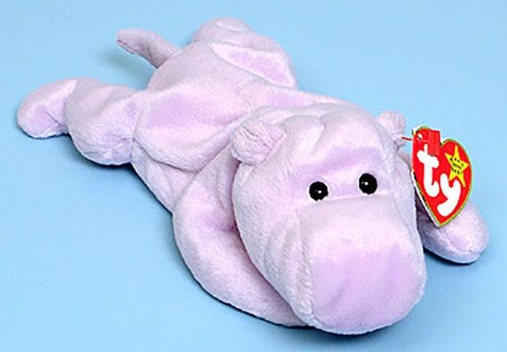 Ty Beanie Babies Happy the Hippo 1993  de652abe06a