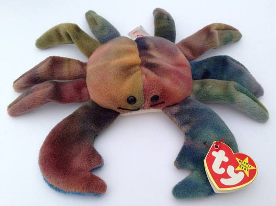 Ty Beanie Babies Claude the Crab 1996 Generation 5 with 6  685a2e76fe9