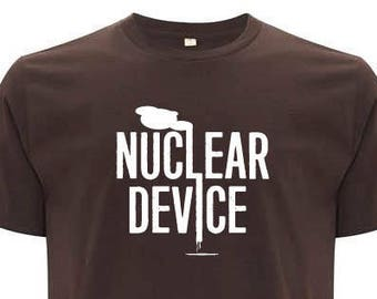 NUCLEAR DEVICE brown unisex organic cotton T-shirt