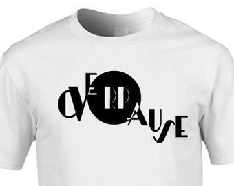 OVERPAUSE white unisex organic cotton T-shirt