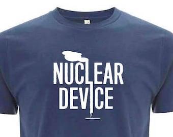 NUCLEAR DEVICE blue unisex organic cotton T-shirt