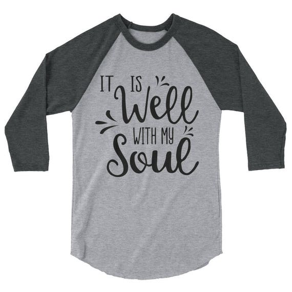 It Is Well With My Soul Tee T-Shirt, It Is Well Tee, Christian Tee, Graphic  Tee, Faith Tee, It Is Well Clothing, Scripture Tee, Worship Song