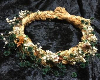 58cm Dried Flower Wreath Crown 'The Georgia'