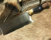 Kitchen Meat Cleaver - Chopper - Handmade kitchen cleaver for the Chef or Butcher - Custom!