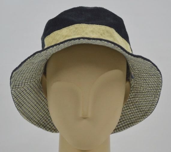 Reversible Lacoste Corduroy Bucket Hat Black Check Pattern One  9fec3d2cdbc